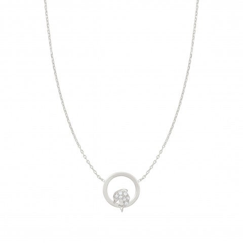 Milù_Necklace_with_Dolphin_Sterling_silver_necklace_with_Dolphin_and_Cubic_Zirconia