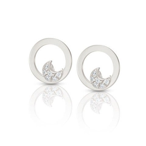 Milù_Earrings_with_Moon_Earrings_in_sterling_silver_and_Cubic_Zirconia_with_Moon