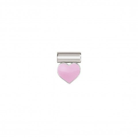 SeiMia_Pendant_with_Pink_Heart_Pendant_in_sterling_silver_and_enamel