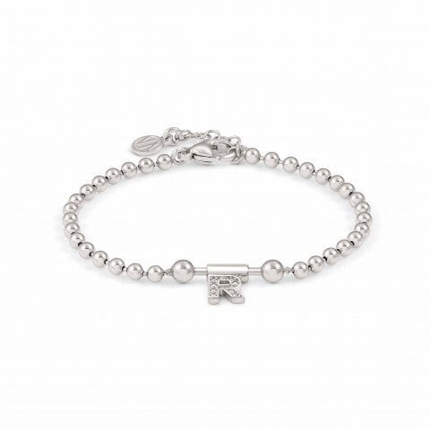 SeiMia_Bracelet_with_Letter_R_Letter_in_sterling_silver_with_white_Zirconia