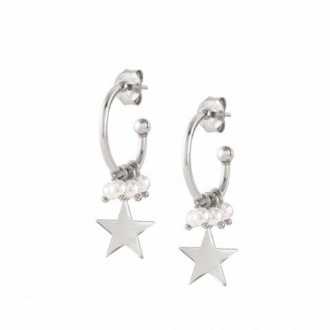 Melodie_earrings_Star_and_pearls_Jewellery_in_sterling_silver