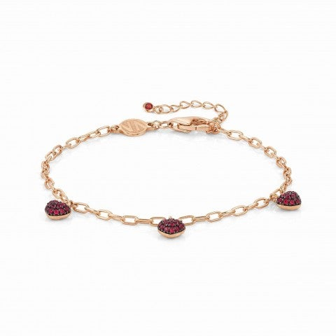Easychic_Hearts_bracelet_22K_rose_gold_finish_Bracelet_with_coloured_Cubic_Zirconia