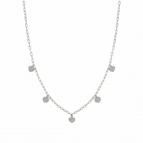 Easychic_Hearts_necklace_white_rhodium_finish_Love_Edition_necklace_with_pendants