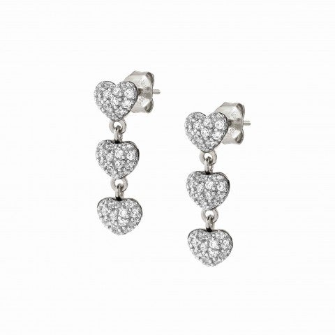 Easychic_Hearts_earrings_white_rhodium_finish_Love_Edition_earrings_with_pendants