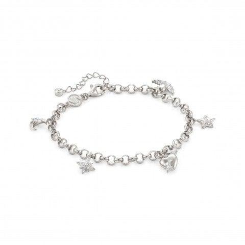 SweetRock_bracelet_with_white_stones_Sterling_silver_bracelet_with_pendants