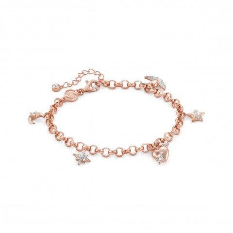 SweetRock_bracelet_with_pendants_Bracelet_in_sterling_silver_with_stones