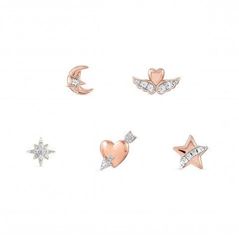 Pendientes_(set_de_5)_SweetRock_Oro_rosa_Set_de_5_Pendientes_en_Plata_con_acabado_en_Oro_rosa_y_Cubic_Zirconia