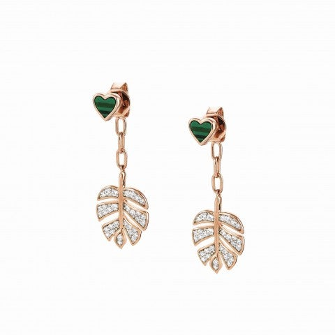 Short_Vita_earrings_with_Leaf_Earrings_in_sterling_silver_and_Malachite