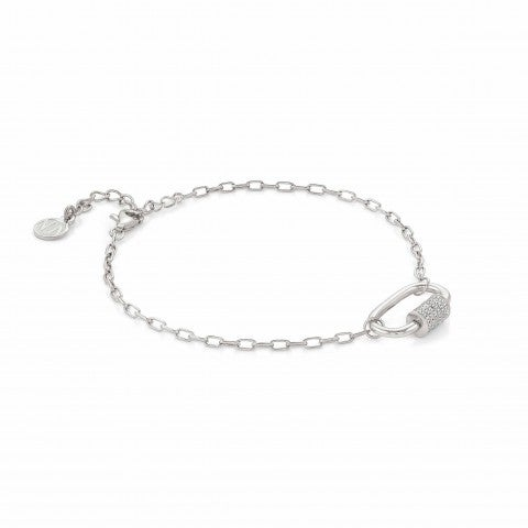 Small_Charming_bracelet,_rhodium_treated_Bracelet_with_screw_closure