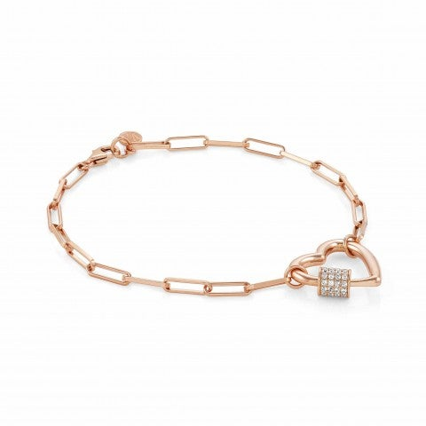 Charming_bracelet_with_big_Heart_22K_Rose_gold_plated_jewellery