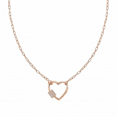 Charming_short-link_necklace_with_Heart_22K_Rose_gold_plated_jewellery