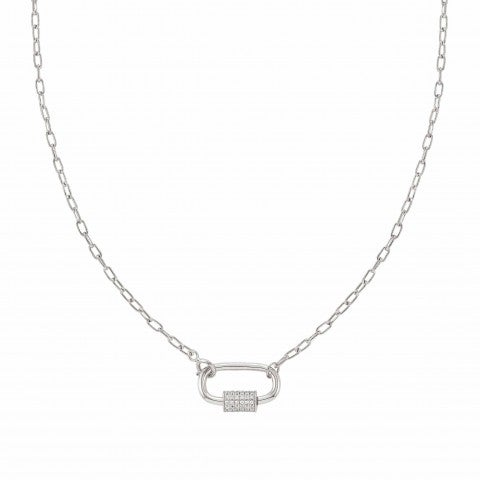 Charming_short-link_necklace,_rhodium_treated_Jewellery_with_screw_closure