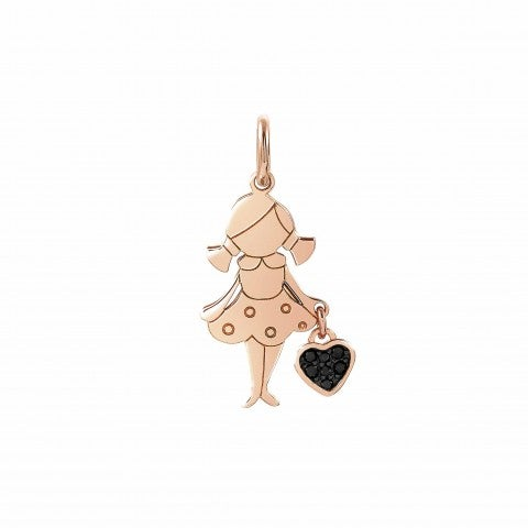 Girl_Charm_with_Heart,_22K_rose_gold_plated_Charming_Her_charm_with_heart_and_Cubic_Zirconia