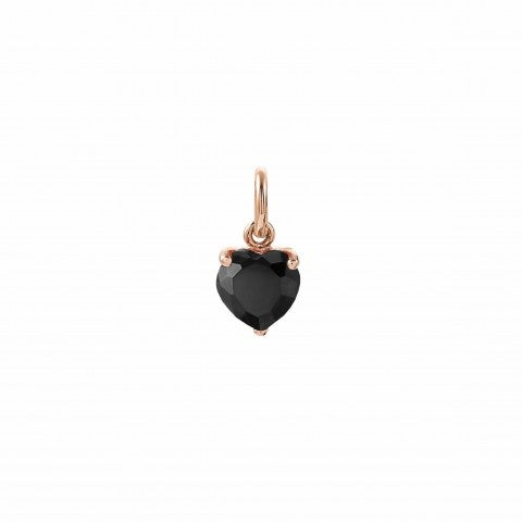 Black_Heart_charm,_22K_rose_gold_plated_Charming_charm_in_Sterling_silver_and_stones