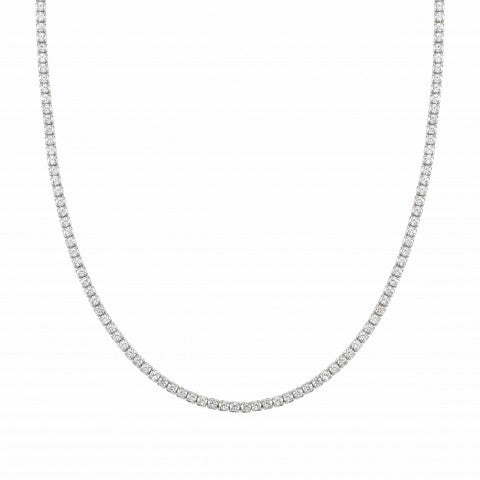 Chic&Charm_necklace_in_sterling_silver_Necklace_with_Cubic_Zirconia