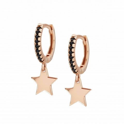 Chic&Charm_earrings_with_Star_Earrings_in_sterling_silver_with_pendant