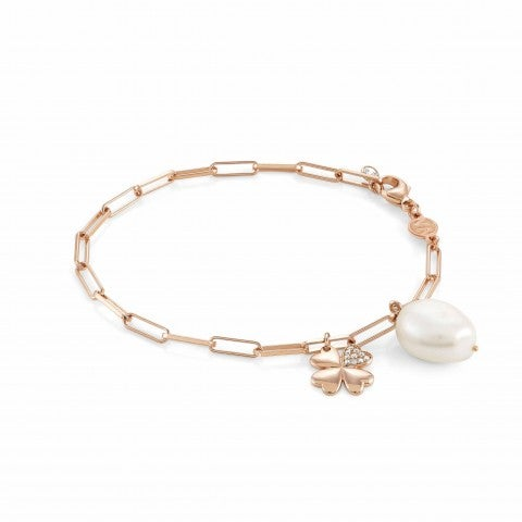 White_Dream_bracelet_with_Four-Leaf_Clover_Bracelet_with_pearl_and_stones