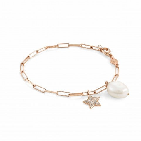 White_Dream_bracelet_with_Star_Bracelet_in_silver_with_pearl