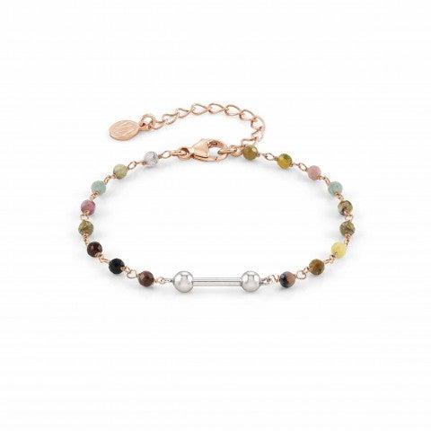 SeiMia_bracelet,_rosegold_and_coloured_stones_Bracelet_with_rose_gold_plating