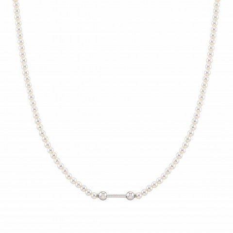 SeiMia_necklace_with_Simulated_pearls_Sterling_silver_necklace