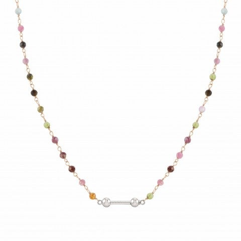 SeiMia_necklace,_rosegold_and_coloured_stones_Necklace_with_rose_gold_plating
