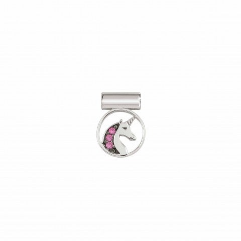 SeiMia_Charm,_Unicorn_with_Cubic_Zirconia_Silver_pendant_with_pink_Cubic_Zirconia