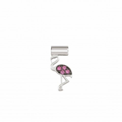 SeiMia_Charm,_Flamingo_with_Cubic_Zirconia_Silver_pendant_with_coloured_Cubic_Zirconia