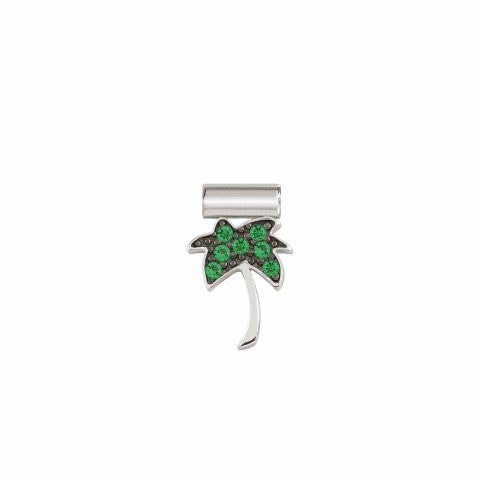 SeiMia_Charm,_Palm_Tree_with_Cubic_Zirconia_Silver_pendant_with_green_Cubic_Zirconia