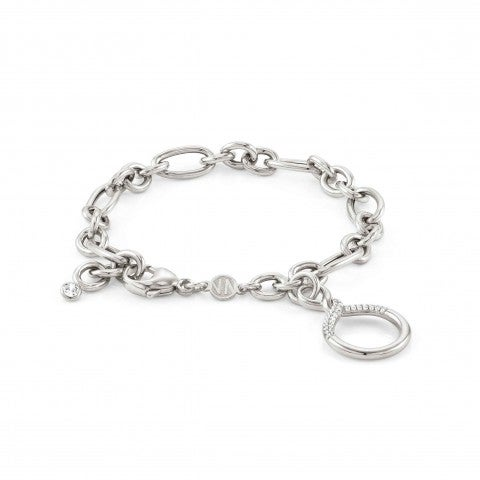 Endless_bracelet_with_Circle_Sterling_silver_bracelet_with_pendant