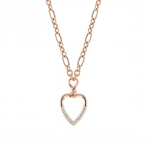 Endless_necklace_in_sterling_silver_Necklace_with_Heart_and_stones