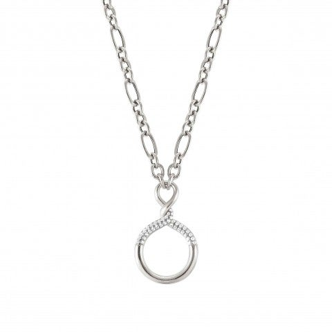 Sterling_silver_Endless_necklace_with_stones_Necklace_with_Circle