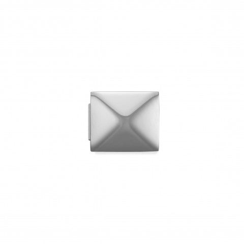 Link_Composable_GLAM_Piramide_Link_in_Acciaio_Simboli_in_rilievo