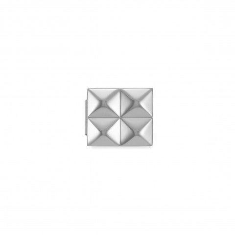 Link_Composable_GLAM_4_Piramidi_Link_in_Acciaio_con_Simboli_in_rilievo