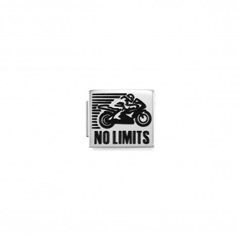 Link_Composable_GLAM_Moto_no_Limits_Link_in_Acciaio_con_scritta_Inglese