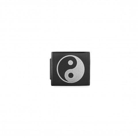 Link_Composable_GLAM_Yin_Yang_pvd_nero_Link_con_Simbolo_cinese_in_Acciaio_e_rivestimento_in_PVD