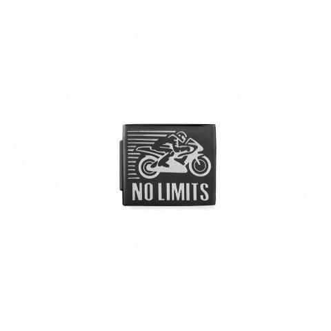 Link_Composable_GLAM_Moto_no_Limits_pvd_nero_Link_con_Scritta_in_Acciaio_e_PVD_nero