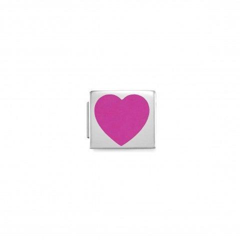 Link_Composable_GLAM_Cuore_Fuchsia_Link_in_Acciaio_e_Smalto_colorato