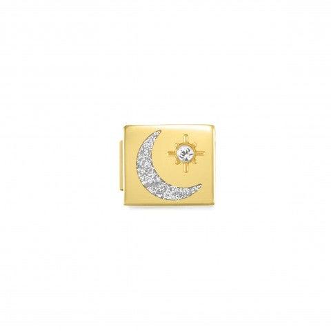 Link_Composable_GLAM_Luna_Glitter_e_Stella_Link_con_simbolo_in_Acciaio_e_Cubic_Zirconia