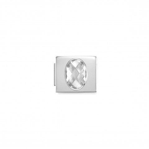 Link_Composable_GLAM_con_Zircone_bianco_Link_in_Acciaio_con_Cubic_Zirconia_bianco