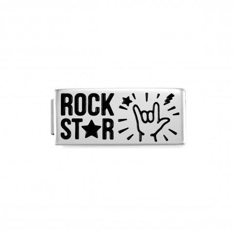 Link_Doble_Composable_GLAM_RockStar_Link_Doble_en_Acero_con_texto_y_esmalte_negro