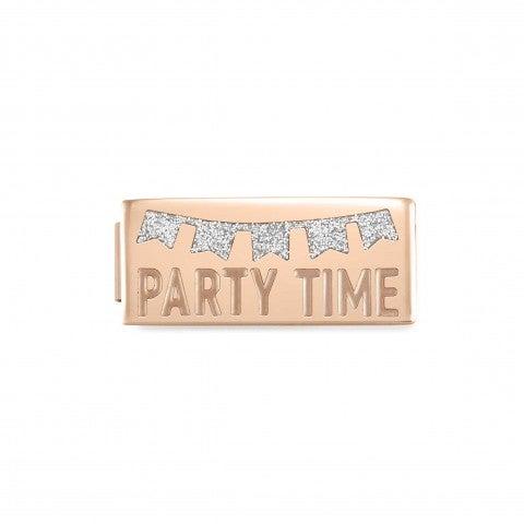 Link_Doble_Composable_GLAM_Party_Time_Link_Doble_en_Acero_con_texto_y_esmalte_Glitter