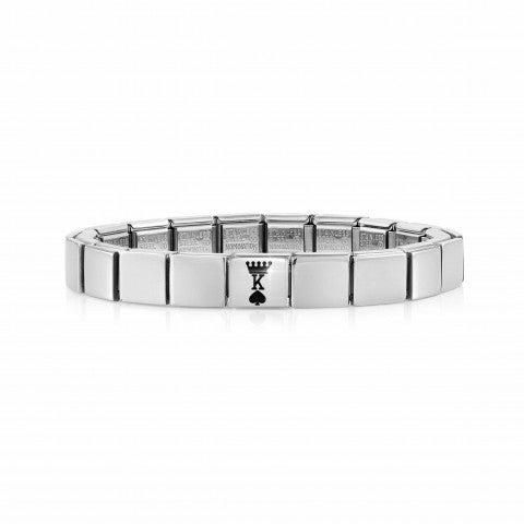 Composable_GLAM_bracelet,_King_of_Spades_Stainless_steel_bracelet,_symbol_in_Black_enamel