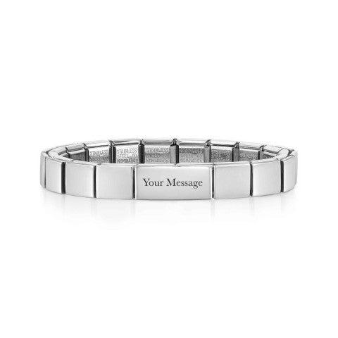 Composable_GLAM_bracelet,_Engraving_Plate_Stainless_steel_bracelet,_Double_Link,_Engraving_Plate