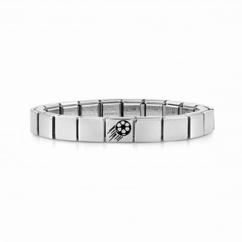 Composable_GLAM_bracelet,_Football_Jewellery_for_Him_in_stainless_steel