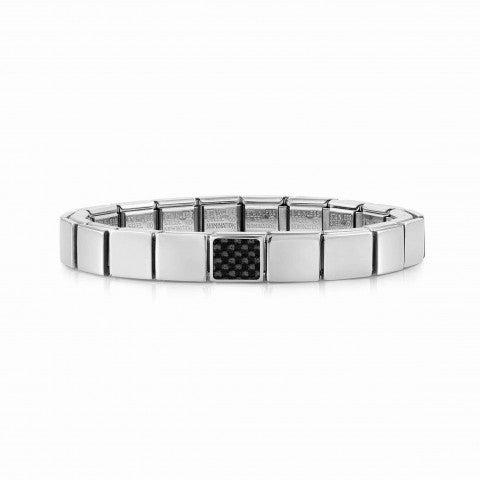 Composable_GLAM_bracelet,_Carbon_Bracelet_for_Him_in_stainless_steel