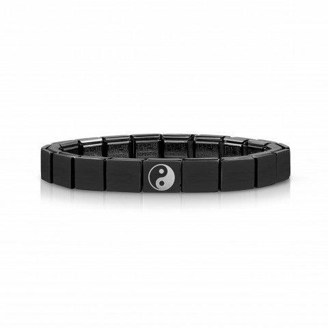Composable_GLAM_Black_bracelet,_Yin_Yang_Bracelet_for_men_with_Black_PVD_finish