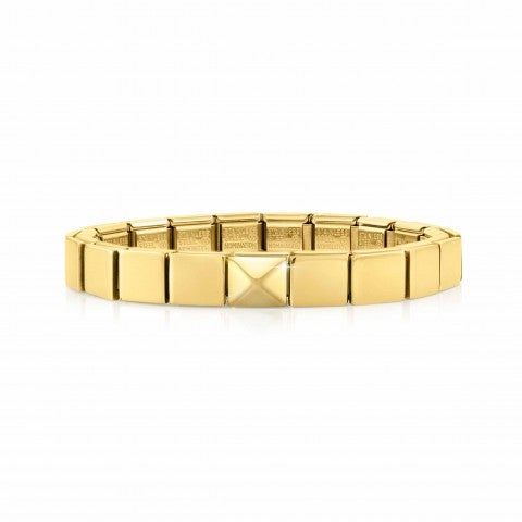 Bracciale_Composable_GLAM_Piramide_Oro_giallo_Bracciale_con_simbolo_in_rilievo