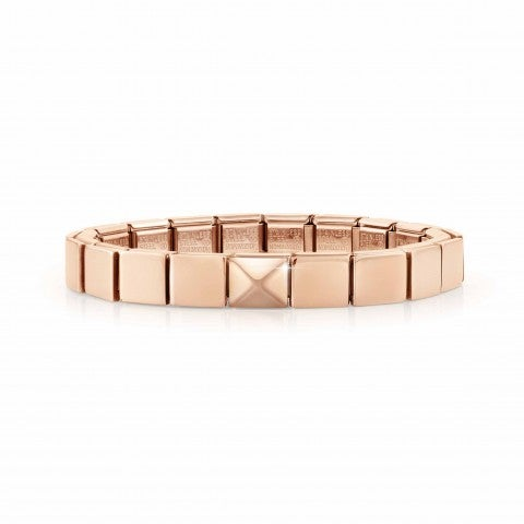 Composable_GLAM_Rose_bracelet,_Pyramid_Stainless_steel_bracelet_with_relief_symbol