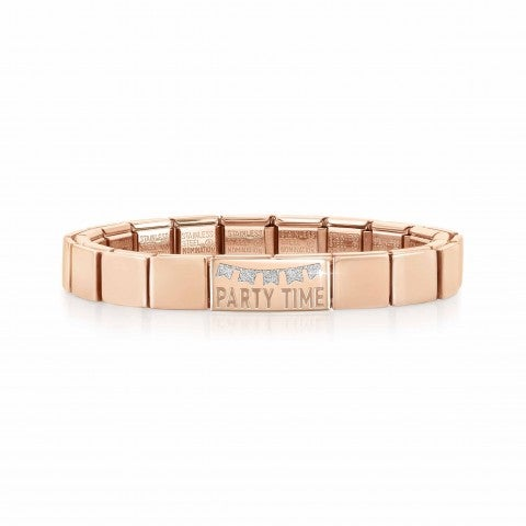 Bracciale_Composable_GLAM_Party_Time_Bracciale_con_finitura_in_Oro_rosa_scritta_e_Smalto