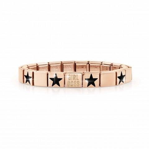 Composable_GLAM_bracelet,_GIRL_BOSS_Glitter_Composable_bracelet_with_writing_and_symbols_in_enamel